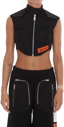 Heron Preston Zipped Military Crop Top