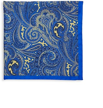 Saks Fifth Avenue Made In Italy Paisley Silk Pocket Square