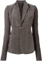 Rick Owens one button blazer - women - Cotton/Linen/Flax/Cupro/Virgin Wool - 44