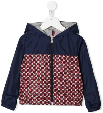 Moncler Enfant Hooded Monogram Pattern Jacket