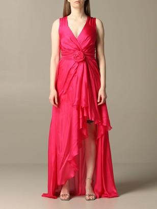 Blumarine Long Organza Dress With Belt