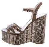 KORS Snakeskin Wedge Sandals