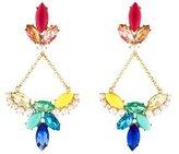 Lulu Frost Faux Pearl & Crystal Chandelier Earrings