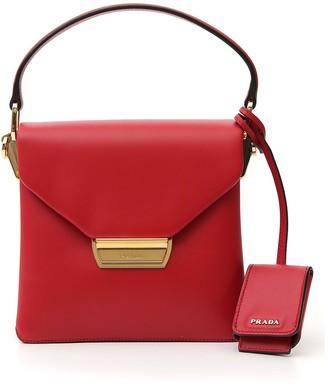 Prada Logo Plaque Top Handle Bag