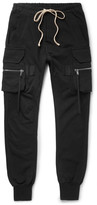 Rick Owens - Slim-fit Tapered Cotton-jersey Cargo Trousers