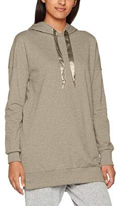 Vero Moda Women's Vmserena L/s Hood Long Top SWT A Sweatshirt, (Light Grey Melange Detail:Eyelets and Stringsends in Gold As On Ss), 36 (Size: )