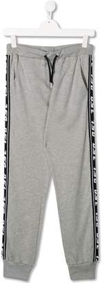 Diesel logo side trim trousers