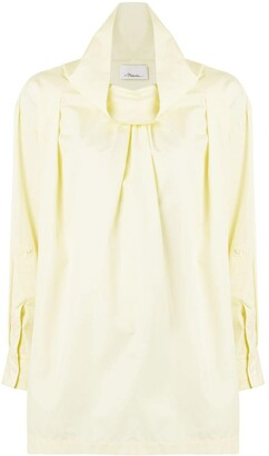 3.1 Phillip Lim Draped-Collar Long-Sleeve Shirt