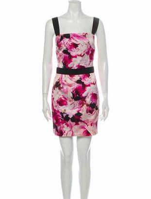 Dolce & Gabbana Floral Print Mini Dress w/ Tags Pink