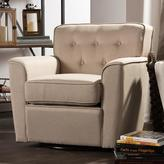Baxton Studio Canberra Contemporary Beige Fabric Upholstered Accent Chair