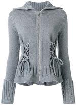 Alexander McQueen zipped knit cardigan