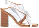 MM6 MAISON MARGIELA criss cross sandals - women - Leather/Metal (Other)/rubber - 37
