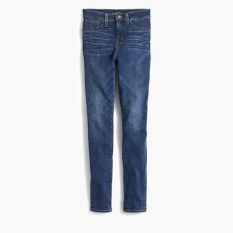 "J.Crew Curvy 10"" highest-rise skinny jean in dark indigo wash"