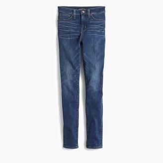 "J.Crew Curvy 10"" highest-rise skinny jean in dark indigo wash"