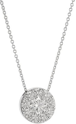 Hearts On Fire Fulfillment 18K White Gold & Diamond Round Pendant Necklace
