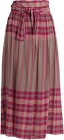 Apiece Apart La Elisa tie-waist plaid skirt
