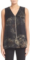 Lafayette 148 New York Women's Julieta Premium Paisley Blouse With Chain Detail