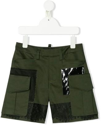 DSQUARED2 Lace Detail Short Shorts