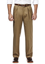 Haggar Premium No Iron Khaki - Classic Fit, Pleated Front, Hidden Expandable Waistband