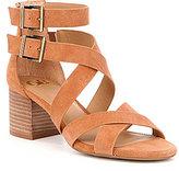 GB Cross-Back Strappy Block Heel Sandals