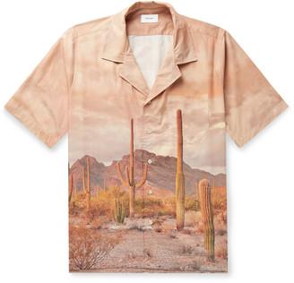 Rhude Camp-Collar Printed Cotton Shirt - Men