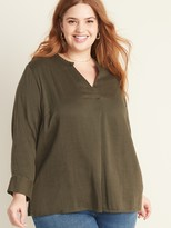 Old Navy Relaxed Plus-Size Split-Neck Top
