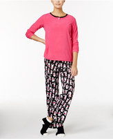 Hue Microfleece Pajama Set with Socks