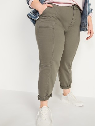 Old Navy Extra High-Waisted Secret-Slim Pockets Sky Hi Straight Plus-Size Utility Jeans
