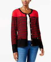 Karen Scott Resort Striped Cardigan, Created for Macy's