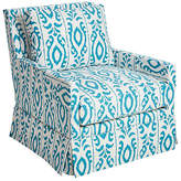 Dana Gibson Lilla Swivel Club Chair - Turquoise