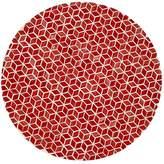 """Mela Artisans Red Hot Plate """"Starshine in Marsala"""""""