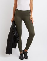 Charlotte Russe Fleece Lined Textured Leggings