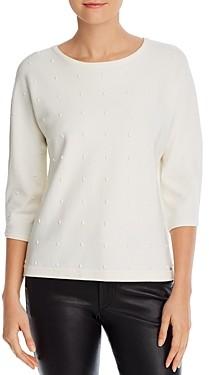 T Tahari Perforated Dolman-Sleeve Sweater