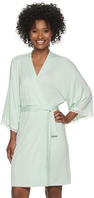 Apt. 9 Women's Solid Laced Cuff Wrap Robe
