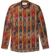 Etro Grandad-Collar Printed Cotton-Poplin Shirt