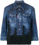 DSQUARED2 distressed denim Forest shirt