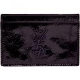 Saint Laurent Purple Leather Purses, wallets & cases