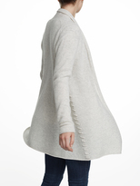 White + Warren Cashmere Side Whip Stitch Cardigan