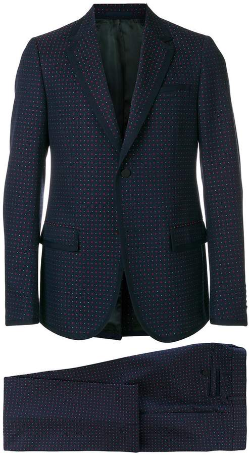 Gucci micro print two piece suit
