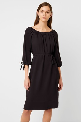French Connection Alem Crepe Round Neck Dress
