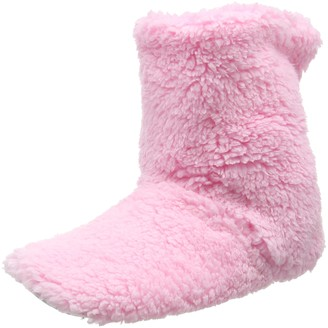 Eaze Women's Pale Pink Fleece Hi-Top Slippers M UK 38/39 EU