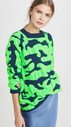Ksenia Schnaider Oversized Camo Sweater