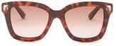 Valentino Women&s Rockstud Retro Squared Stud Sunglasses