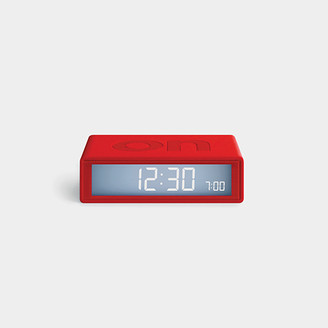 Lexon Design - Red Flip Travel Alarm Clock - red - Red/Red