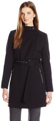 Kenneth Cole New York Kenneth Cole Women's Oxford Ponte Trench Coat