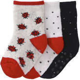 Joe Fresh Baby Girls' 3 Pack Socks, Grey (Size 0-12)