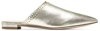 Cole Haan Raelyn Studded Metallic Leather Mules