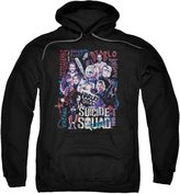 Marvel Suicide Squad Characters Group Shot Movie Film Adult Pull-Over Hoodie