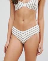 Zulu And Zephyr Zulu & Zephyr Stripe V High Waisted Bikini Bottom
