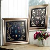Kaleidoscope Gold Alchemy Bugs Framed Print